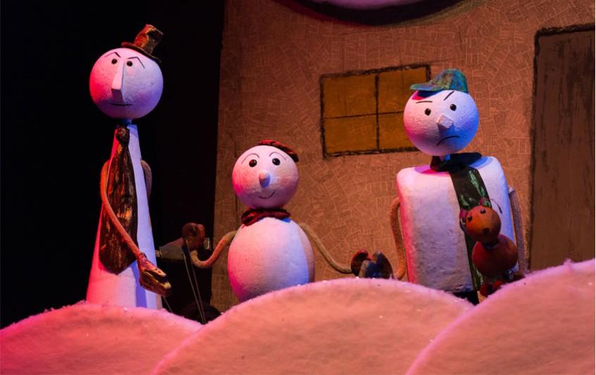 """Το κουκλοθέατρο """"Οι τρεις Χιονάνθρωποι"""" στο Εργαστήρι Μαιρηβή"""
